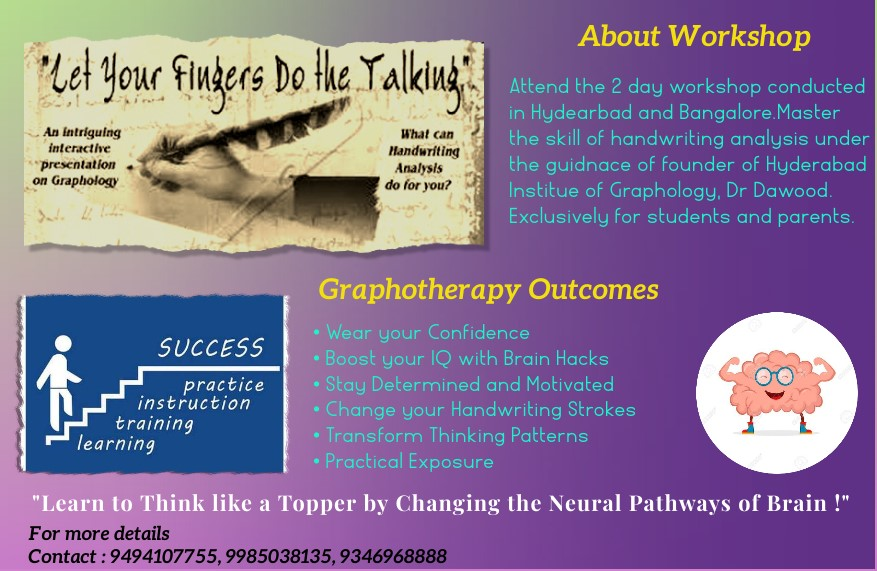 Hyderabad Institute Of Graphology Work Shop | Dr MD Dawood
